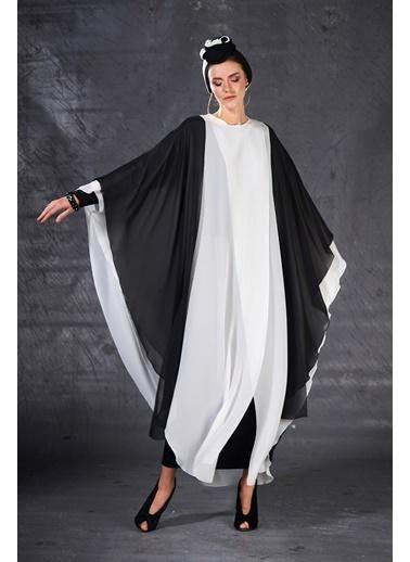 Eda Atalay Blok Renkli Tunik ve Şal Siyah